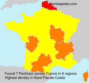 Surname Peckham in France