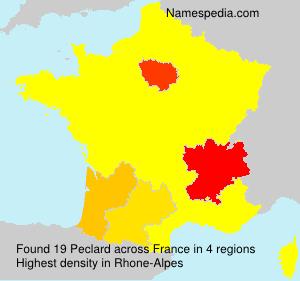 Surname Peclard in France