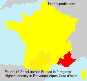 Surname Pecol in France