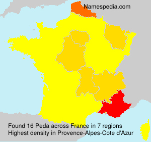 Surname Peda in France