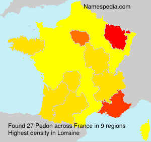 Surname Pedon in France
