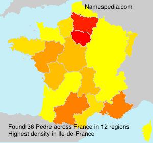 Surname Pedre in France