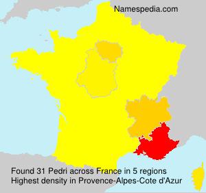 Surname Pedri in France