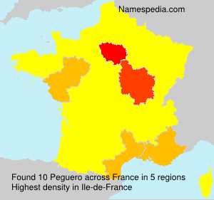 Surname Peguero in France