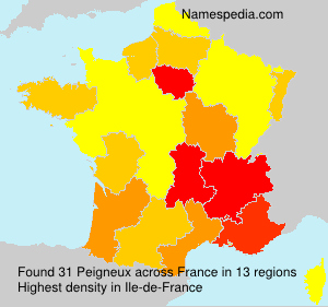 Surname Peigneux in France