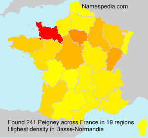 Surname Peigney in France