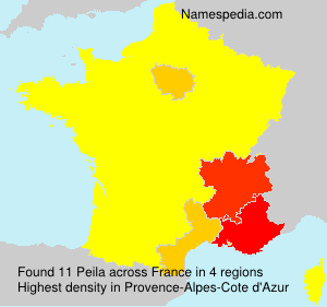 Surname Peila in France