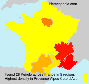 Surname Peirolo in France