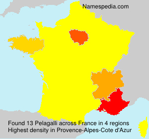 Surname Pelagalli in France