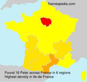 Surname Peler in France