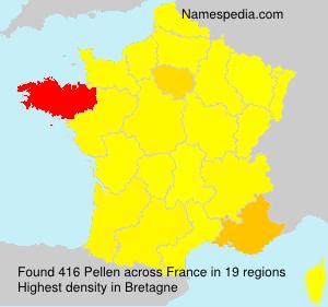 Familiennamen Pellen - France
