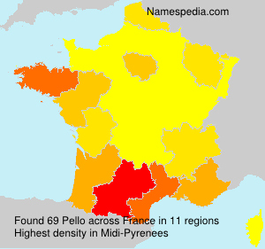 Surname Pello in France