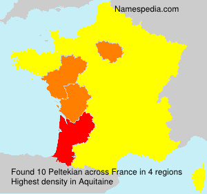 Surname Peltekian in France