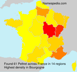 Surname Peltret in France