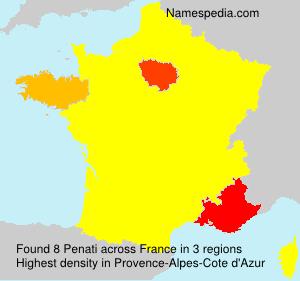 Surname Penati in France