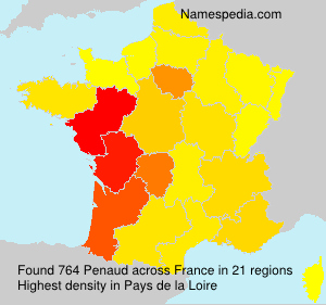 Surname Penaud in France