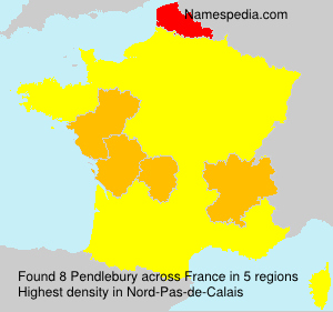 Surname Pendlebury in France