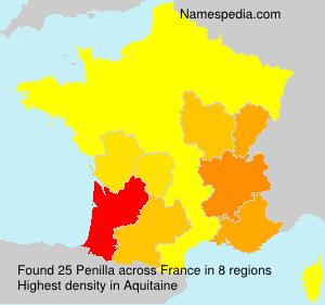 Surname Penilla in France