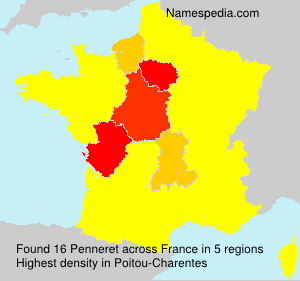 Surname Penneret in France