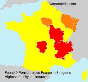 Surname Pense in France
