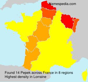 Surname Pepek in France