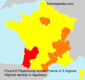 Surname Peperkamp in France