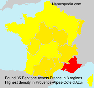 Surname Pepitone in France