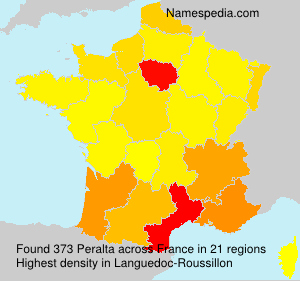 Surname Peralta in France