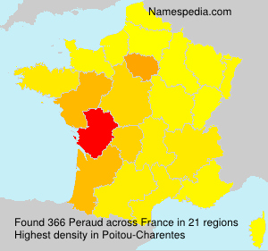 Surname Peraud in France