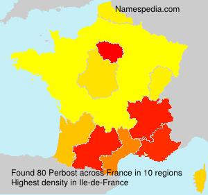 Surname Perbost in France