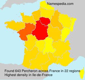 Surname Percheron in France