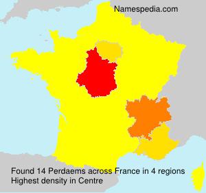 Familiennamen Perdaems - France