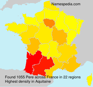 Surname Pere in France