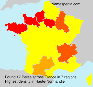 Surname Peree in France