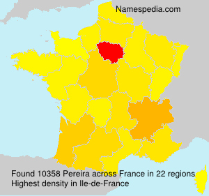 Surname Pereira in France
