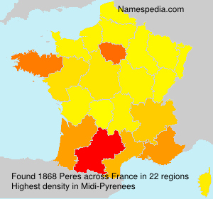 Surname Peres in France