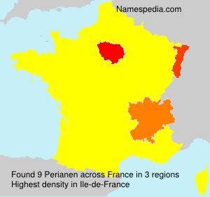 Surname Perianen in France