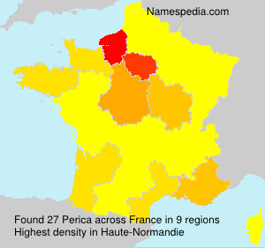 Surname Perica in France