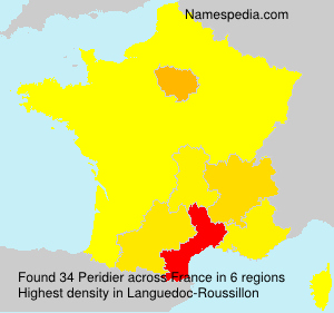 Surname Peridier in France