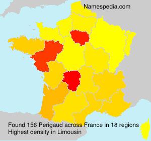 Familiennamen Perigaud - France
