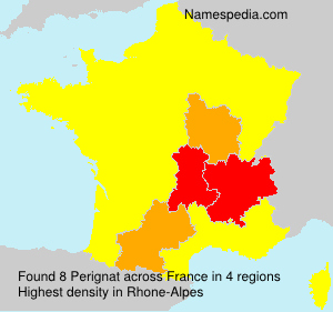 Familiennamen Perignat - France