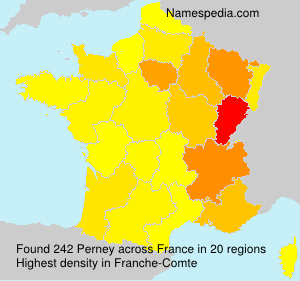 Surname Perney in France