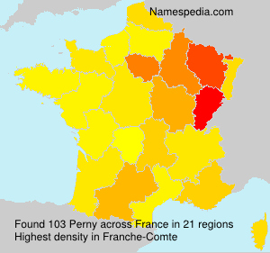 Surname Perny in France