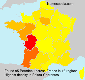 Surname Perodeau in France