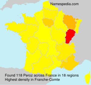 Familiennamen Peroz - France