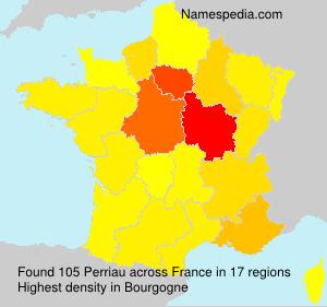Familiennamen Perriau - France