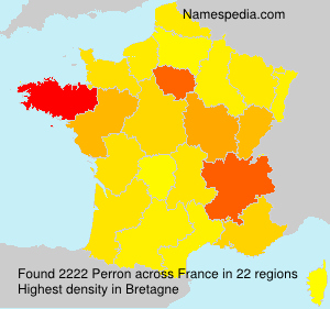 Surname Perron in France