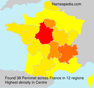 Surname Perronet in France