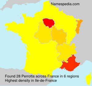 Surname Perrotta in France