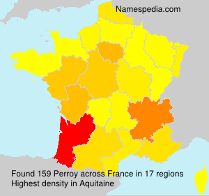 Surname Perroy in France
